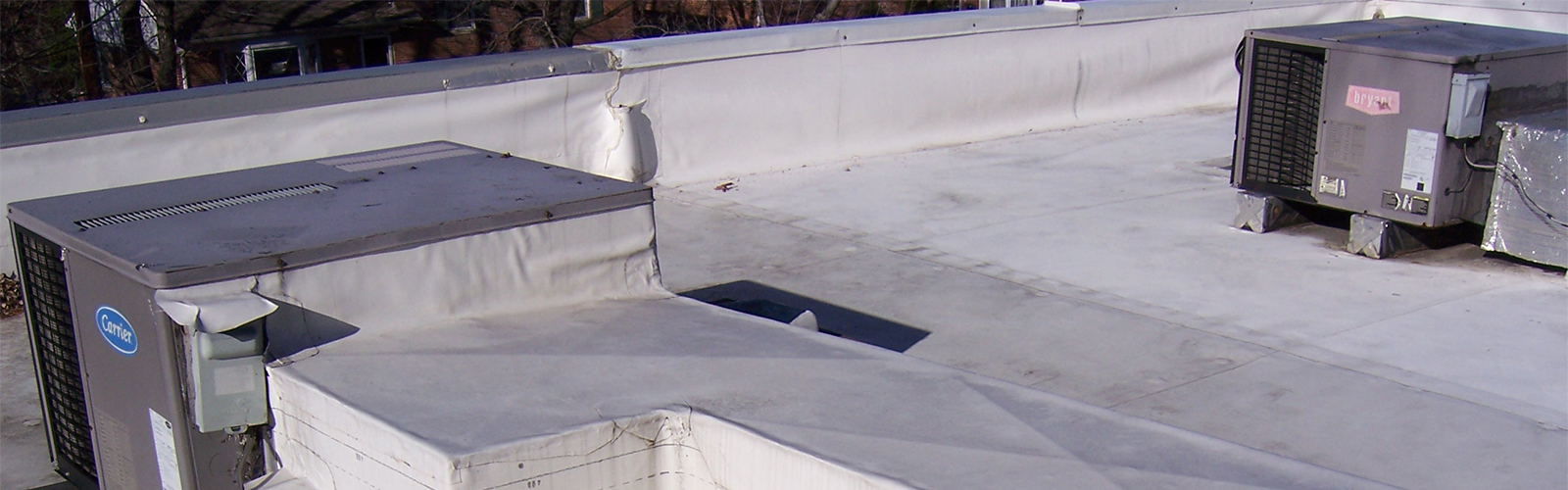 commercial roofing tpo duct wrapping